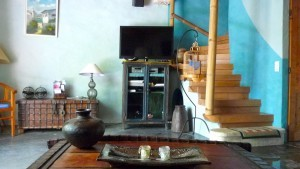 Deco TV corner Blue cottage le mas de la chouette