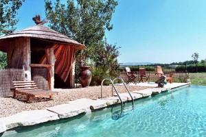 La paillote au bord de la piscine du Mas de la Chouette Gites et Chambres d'hôtes à Saint Rémy de Provence
