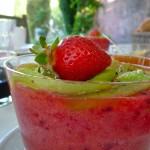 Petit déjeuner Mas de la Chouette Mousse de Fraise Quiwi