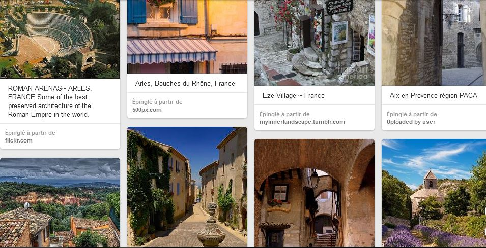 Photos Pinterest sur la Provence