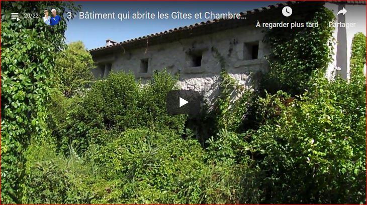 Bâtiment qui abrite les Gîtes et Chambres d'hôtes du Mas de la chouette